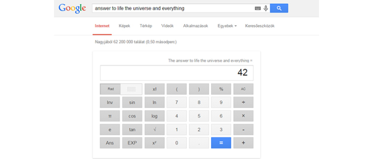 Google Calculator 42