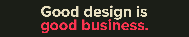 Good design is good business. felirat