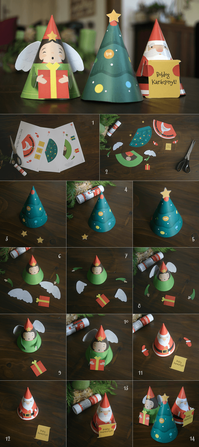 DIY – Do it yourself – free paper xmas figures